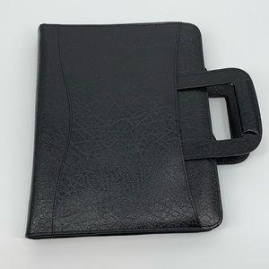 Three Ring Black Binder Brief Notebook Briefcase